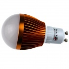 ZHISHUNJIA GU10 8W 680lm 3000K 16-SMD 5630 Ampoule blanche à LED chaude - Blanc + Or (85 ~ 265V)