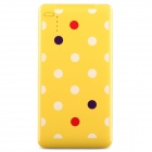 "COOMAX C1+ Polka Dot Pattern Mobile ""5000mAh"" USB Power Bank - Yellow + White"