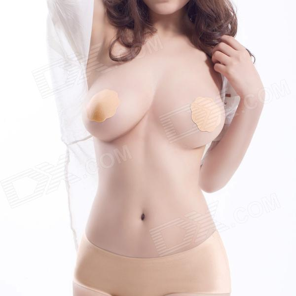 Nipple Pad Covers Invisible Circle Stick On Bra Petal - Nude (Pair)
