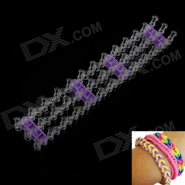 DIY Silicone Rubber Band Bracelet - Purple + Transparent