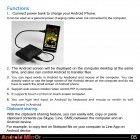 LINE5 A895 Intelligent Android Mirror to Screen Monitor for Cell Phone / Tablet PC - Golden