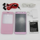 "M-HORSE N9000W 5"" Capacitive Dual-Core Android 4.2.2 WCDMA Bar Phone w/ 4GB ROM, GPS, FM - Pink"