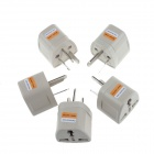 Portable Travel AC Plug Power Adapter (5PCS)