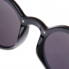 Retro Round Lens Style UV400 Protection Sunglasses - Black