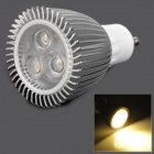 GU10 9W 210lm 3000K 3-LED Warm White Spotlight - Silver (AC 85~265V)
