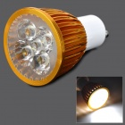 GU10 5W 300lm 6000K 5-LED Spotlight Blanco - Oro (AC 85 ~ 265V)