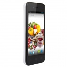 "UTime U6 MTK6572 Dual-Core Android 4.2 WCDMA 3G Bar Phone w/ 4.0"" IPS, 512MB RAM, 4GB ROM - White"