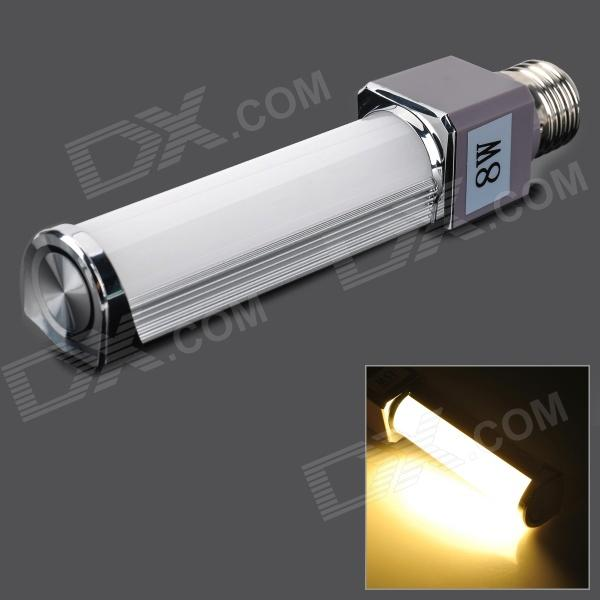 E27 8W 500lm 3000K 16-5630 SMD LED Warm White Lamp - Silver + Purple (AC 85~265V)