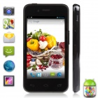 "UTime U6 MTK6572 Dual-Core Android 4.2 WCDMA 3G Bar Phone w/ 4.0"" IPS, 512MB RAM, 4GB ROM - Black"