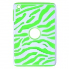 Hotsale Zebra-Stripe Style Protective Silicone Case for IPAD MINI / RETINA IPAD MINI - Green + White