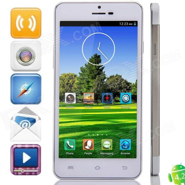 "Haipainoble X3sW MTK6589 Quad-Core Android 4.2.2 WCDMA Phone w/ 5.0"", OTG, GPS, FM - Golden + White"