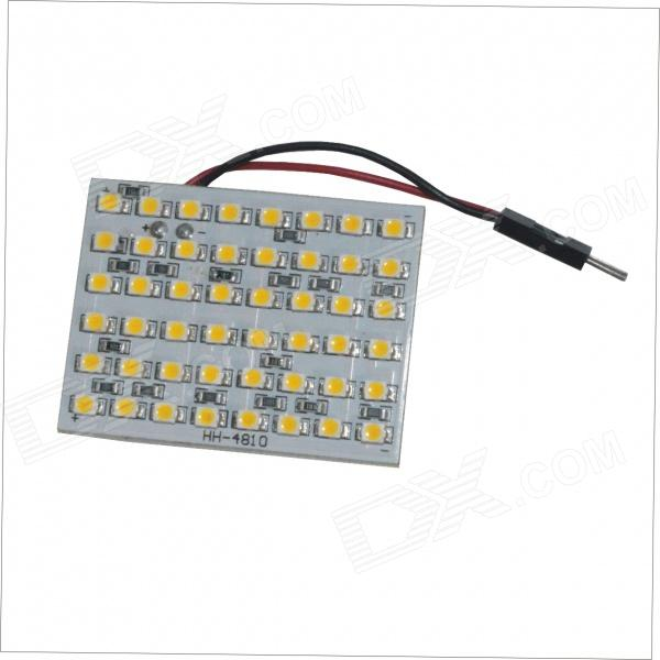T10 / BA9S / Festoon 3.4W 462lm 4500K 48-SMD 1210 Warm White LED Car Rome Lamp (12V)