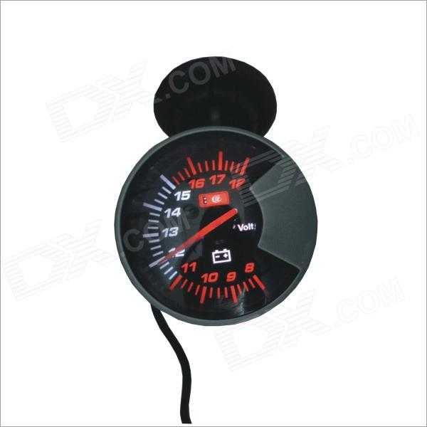 Electric Racer / Car Battery Voltmeter Gauge - Black + Silver (DC 12V)