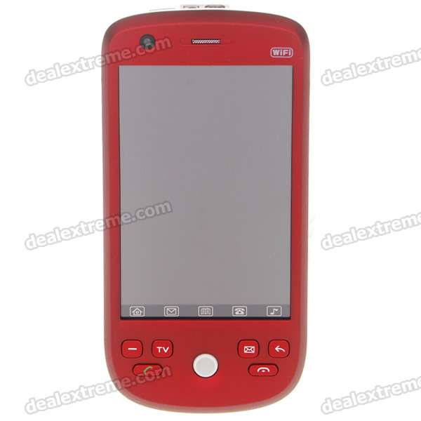 "W007 3.2"" Touch Screen Dual SIM Dual Network Standby Quadband GSM TV Cell Phone w/WiFi + JAVA"