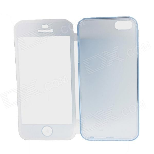 MZ Protective Silicone Case Cover for IPHONE 4 / 4S - Translucent Blue protective silicone case for nds lite translucent white