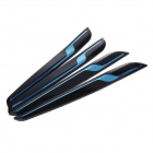 YI-278 3M Automotive Anti-collision Rubber Strip Body Adhesive Strip Rubbing Strips - Black + Blue