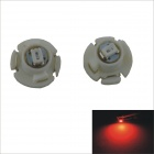 T4.2 0.15W 1-SMD 3020 LED Red Light Car Instrument Lamp (12V / 2 PCS)