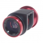3-in-1 Macro + Wide Angle + Fisheye Lens for IPHONE 4 / 4S - Red + Black