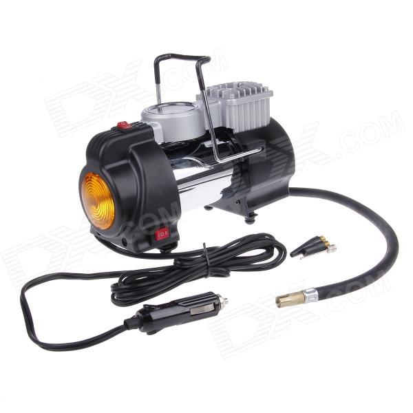 HD-505 Car Air Compressor Pump Inflator with LED Emergency Light - Black + Yellow (DC 12V) 75w dc electric air pump for car dc 12v