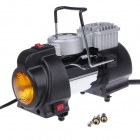 HD-505 Car Air Compressor Pump Inflator with LED Emergency Light - Black + Yellow (DC 12V)