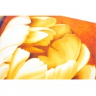 Home Decorative Flower Style Frameless Oil Painting - Orange + Multicolor