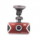 "Karst G6 2.7 ""TFT Full HD 1080P 3.3 MP CMOS-Auto-DVR Video Recorder w / G-Sensor - Schwarz + Rot"