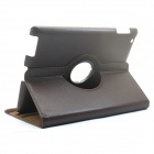 Protective PU Leather 360 Degree Rotation Case for IPAD 2 / 3 / 4 - Dark Brown