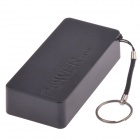Protable Universal 3000mAh Mobile Power Bank w/ Hanging Ring / Charging Cable  - Black