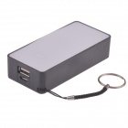 3000mAh Portable Universal mobile Power Bank w / anneau de suspension / Câble - Noir