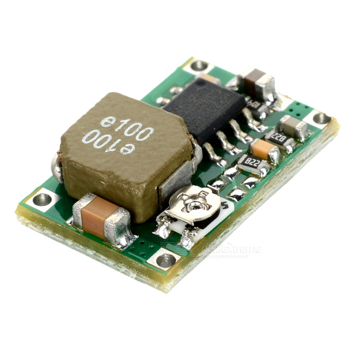 Mini MP2307DN DC to DC Synchronous Step-Down Power Module - GreenPower<br>Module nature: non-isolated; Rectification: sync; Input voltage: 4.75~23V; Output voltage: 1~17V; Output current: 3A (surge) 1.8A; Conversion efficient: 96% (Max.); Switch frequency: 340KHz; Output ripple: 30mV; Load regulation: +/-0.6%; Voltage regulation: +/-2.5&amp;amp;; Working temperature: -40~85C; Suitable for DIY power car power and ICD power supply.<br>
