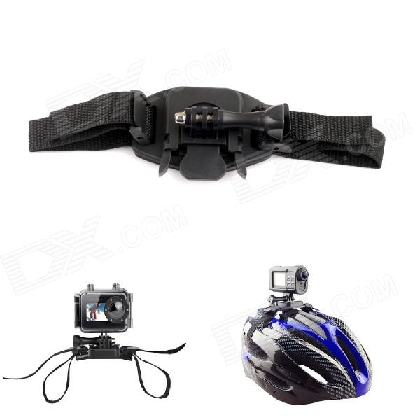PANNOVO Universal Helmet Strap Mount w/ Quick Assemble Plug + Screw for Gopro Hero 4//2/3/3+/SJ4000 цена и фото