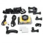 "iShare S200 2.0"" LCD CMOS 1080P Full HD 5.0MP Waterproof Sport Camera - Black + Yellow"