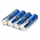 TMMO 1.5V Carbon-Zinc Button Top AA Batteries - Blue + Silver + Black (4 PCS)