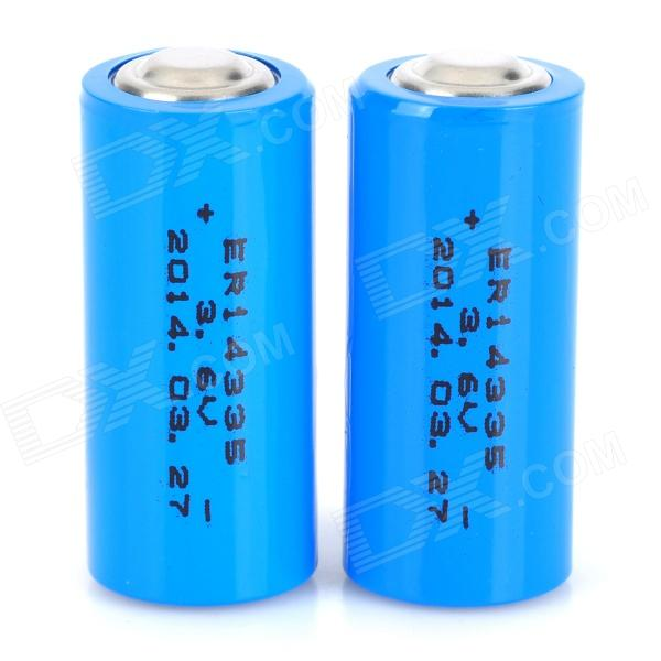 ER14335H 3.6V 1600mAh Li-ion Batteries - Blue (2 PCS)