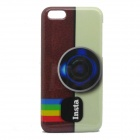 Retro Camera Pattern Protective Plastic Back Case for IPHONE 5C