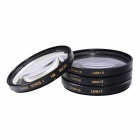 HighPro Close Up Makrolinsen-Set (1/2/4/10) Dioptrien Filter Set - Schwarz (55 mm)