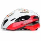 JSZ WT001 Protective Outdoor Cycling Bike Helmet - White + Red (L)