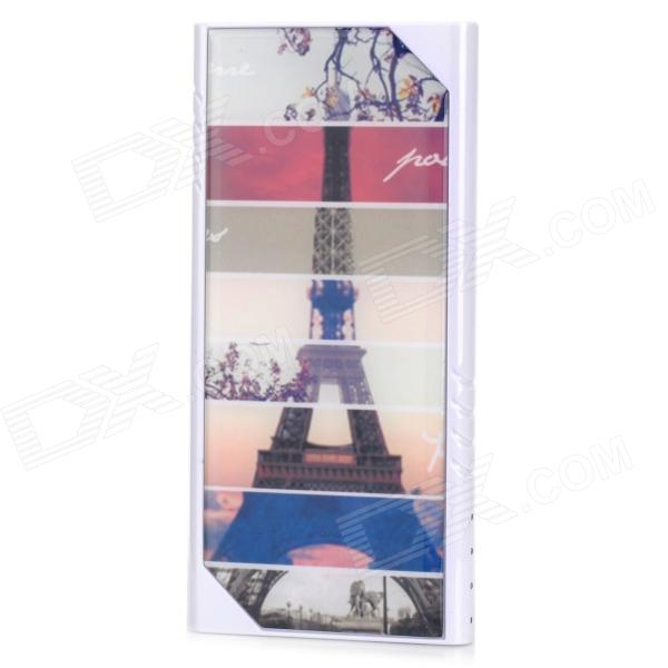 LSON Z-8808 Eiffel Tower Dual USB 5V 8800mAh Li-ion Polymer Battery Power Bank - Multicolored universal 20000mah portable li polymer battery dual usb power bank white silver
