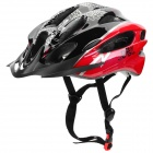 JSZ WT001 Protective Outdoor Cycling Bike Helmet - Black + Red (L)