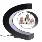 TOP-FLIGHT C-Style Electromagnetic Levitation Photo Frame - Black + White (US Plug / AC 100~240V)