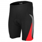 ARSUXEO AR5558 Cycling Nylon + Lycra Shorts w/ Silicone Pad for Men - Black + Red (L)