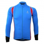 ARSUXEO AR60026 Men's Outdoor Cycling Lycra + Polyester Tight Long-sleeve Shirt - Blue + Red (XL)