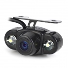 Waterproof Wireless Frogeye 2-LED 1/4 CMOS Vehicle Car Rearview Camera System - Black (12V / PAL)