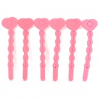 Sponge Hair Curling Tool Sticks - Pink (6 PCS)