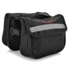 Boodun Bd-b04 Bicycle Bike Top Tube Double Bag - Black