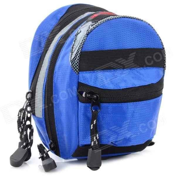 Boodun Bd-b03 Bicycle Bike Oxford Cloth Saddle Bag - Blue free shipping 2017 new oxford cloth motorcycle saddle bag helmet package moto saddle bag waterproof cover plastic plate