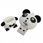 UPX-2 Panda estilo Cartoon USB 2.0 Flash Drive-blanco + negro (64GB)