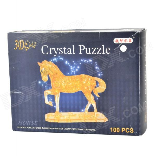 3D 100-Piece Crystal Horse Puzzle 3 years warranty 100