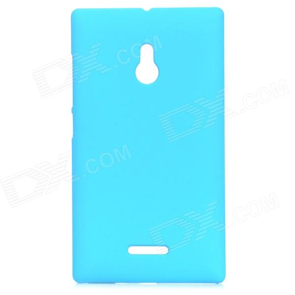 Matte Protective Plastic Back Case for Nokia XL - Light Blue nillkin protective matte plastic back case w screen protector for iphone 6 4 7 golden