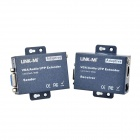 LINK-MI LM-101TRS Adaptive VGA / Audio UTP CAT5 / 5E / 6 Extender - Deep Blue (100~240V)